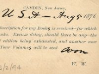 Link to a larger image of a postcard from Walt Whitman