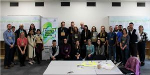 Group photo of those taking part in Surrey's Green Challeng