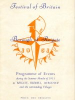 Borough of Reigate Festival of Britain programme of events 6345/File1