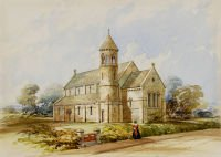 Watercolour of St John's church, Hale, nd [1830s] (ref 9043/2/66/4)