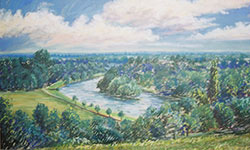 Painting of view from Richmond Hill