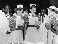 Doctors and nurses at the prize-giving day, Netherne Hospital, Coulsdon, May 1954 (SHC ref PH/45/33)