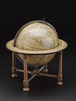 Twelve-inch terrestrial globe made by John Senex 1738