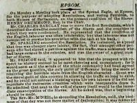 Article from the The Herald reporting anti-slavery meeting 1826 G52_12_15