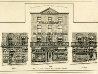Pen and ink sketches of the premises of W. Williamson and Sons in 1847, 1885 and 1926 (SHC ref 5009/1)