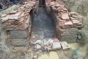 Facade of Roman tile kiln