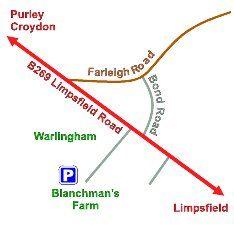 Blancham Farm map