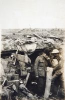 Dugout in Jeffery Trench, August 1917. (SHC ref ESR/1/12/14)