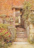 Hambledon, under the Old Malthouse, watercolour by Helen Allingham, c.1890s (SHC ref PC/73/2/1)