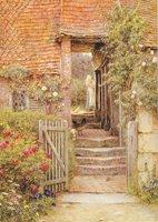 Hambledon, under the Old Malthouse, watercolour by Helen Allingham, c.1890s (SHC ref PC/73/2/1)