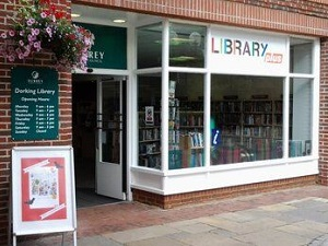 Dorking Library entrance