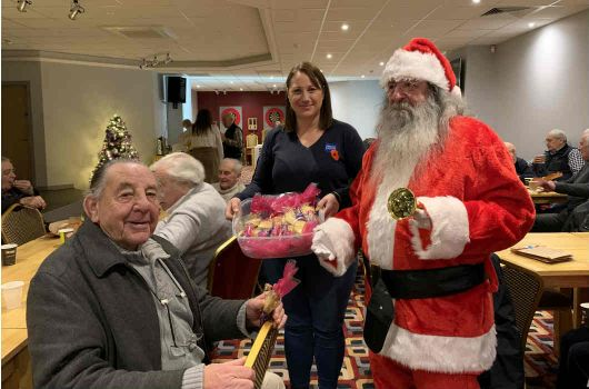 Veterans at Christmas drop-in event