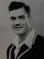 Portrait photograph of cricketer Alec Bedser prior to the 1946-7 tour of Australia