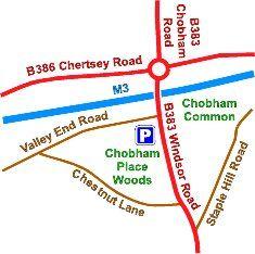 Chobham Place woods map