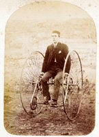 A young man on his velocipede