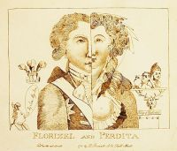 Portrait depicting the Prince of Wales as Florizel and Mary Robinson as Perdita in an adaptation of 'The Winter's Tale'.