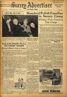 front page of the mid-week edition of the 'Surrey Advertiser' for Wednesday 14 December 1949