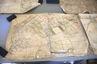 a map attached to a table