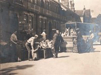 POW parcels being loaded for shipment (from scrapbook probably compiled by Mrs Christabel Elias Morgan, 1916-1919) SHC ref QRWS/30/ELIAA/2e