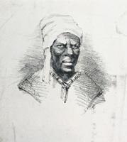 Black man in a turban hat