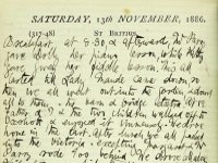 Extract from the diary of Susan Lushington