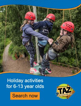 Outdoor activity courses for 6-16 year olds