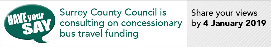 Bus consultation have your say banner