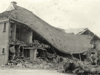 Photograph of bomb damage at County Hall, 10 Oct 1940