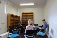 Banstead Library room in use.
