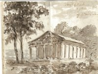 Temple of Bacchus illustration in Gilpin sketchbook 6701_1