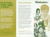 Ockenden Venture Vietnam appeal leaflet