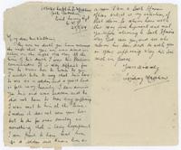 Letter to Robert Watkins' parents