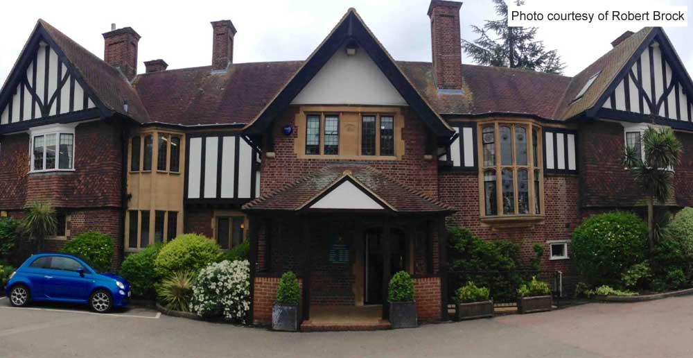 Front of Rylston, Weybridge Register Office.