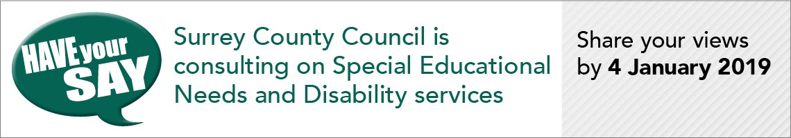 Special educational nneds and disability consultation have your say banner