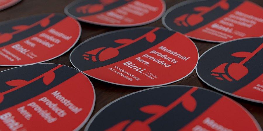 Image of Binti branded stickers