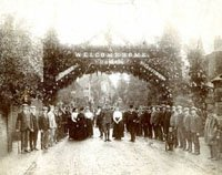 Albury parish celebrations on the return of Major King-Church from the Boer War, c.1902 (SHC ref 8261/13/3)