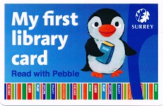 Pebbles library card