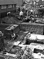 Excavations at the site of Oatlands Palace 1969