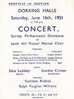 Festival of Britain concert performance at Dorking Halls 2054/43/9-10