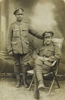 Pte Harold Brown, in the uniform of the Queen's Royal West Surrey Regiment, with a colleague, nd [c.1915] (Courtesy of the Imperial War Museum; IWM ref MISC 2816-5579-5)