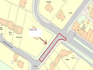 The area of works on Outwood Lane, Chipstead due to drainage works from 18 – 26 November.