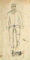 Cyclist sketch (SHC ref 7597/6)