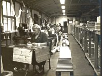 women workers in the sewing machine section