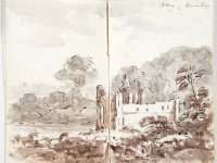Ruined abbey illustration in Gilpin sketchbook 6701_1