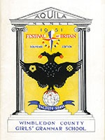 Wimbledon County Girls' School Aquila magazine cover 7640/1/31