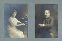 Photographic portraits of Leopold and Annie Salomons, c.1912 (SHC ref. 6529/19)