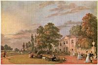 A postcard depicting 'Tea at Englefield Green