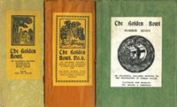 Front covers of The Golden Bowl, numbers 5-7, July 1930 to Winter 1931/2