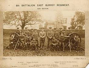 6th Battalion, the East Surrey Regiment (SHC ref ESR/10/13/1/10A)