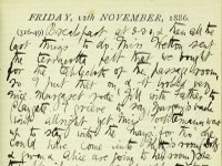 Pages from diary of Susan Lushington, 1886 (SHC ref 7854/4/1/1/4)